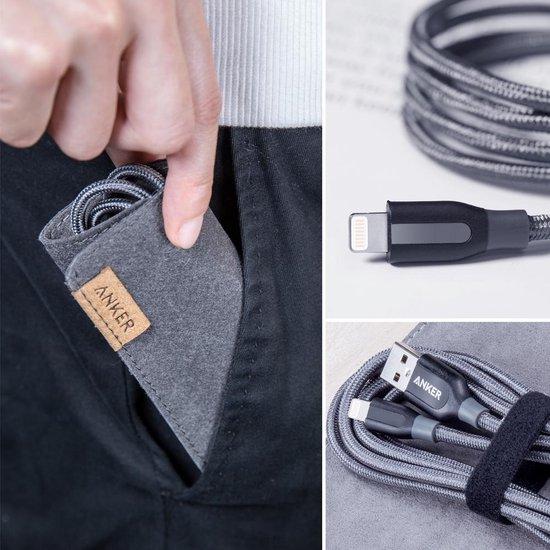 Anker PowerLine+ Lightning USB-A Kabel MFI 0.9m - Grijs - Anker