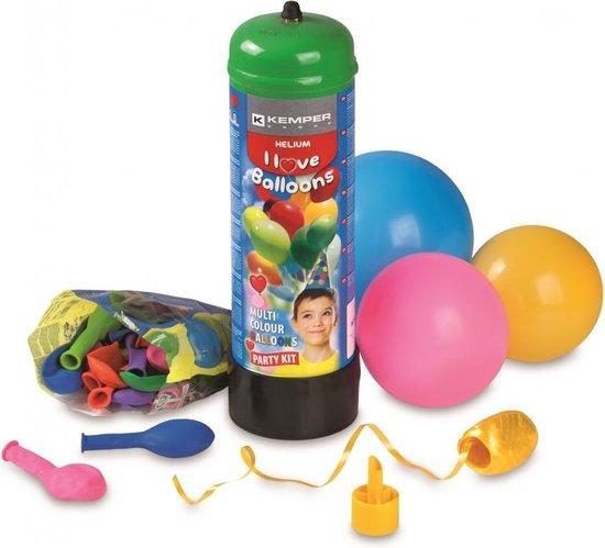 Helium gasfles 2,2 liter + 30 ballonnen en 20 meter lint - Professionele kwaliteit - Kemper