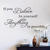 Muursticker Wandtekst Believe in yourself - Motivatie - 71x30 cm