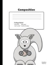 Cute Squirrel Composition Book College Rule