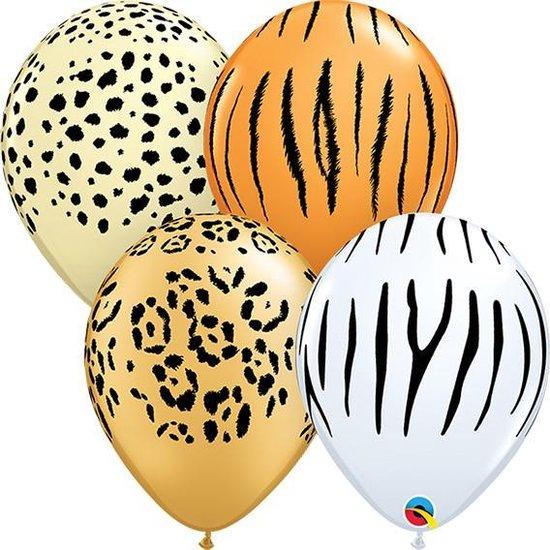 Ballonnen Safari print 5 inch