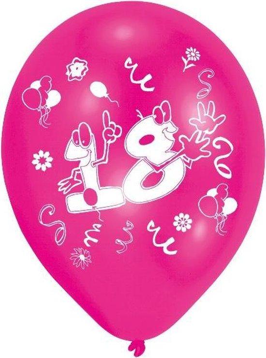 Amscan Ballonnen 18 Jaar 25 Cm 8 Stuks