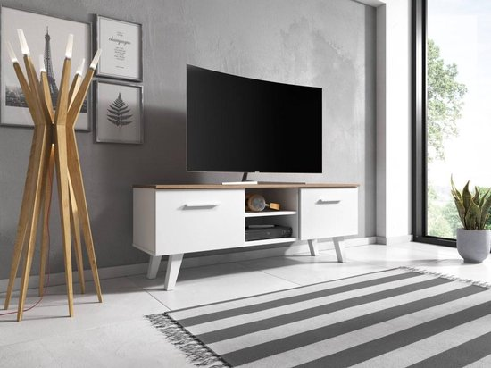 Welp bol.com | TV Meubel Wit - Scandinavisch Design - 140x53x41 cm VM-92