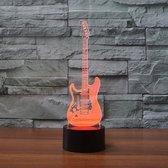 Hewec® Optische 3D illusie lamp Elektrische Gitaar
