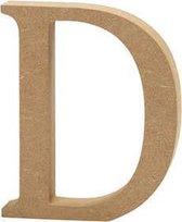 Letter D h: 8 cm dikte 1 5 cm MDF 1stuk