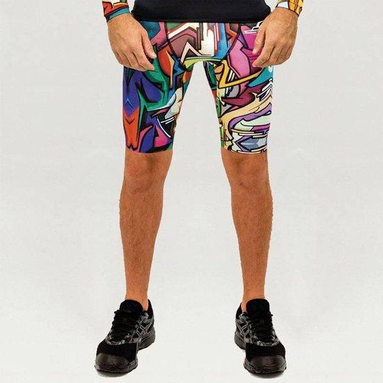 Heren – sportbroek – hardloopbroek – running shorts – Design Does – Maat XL