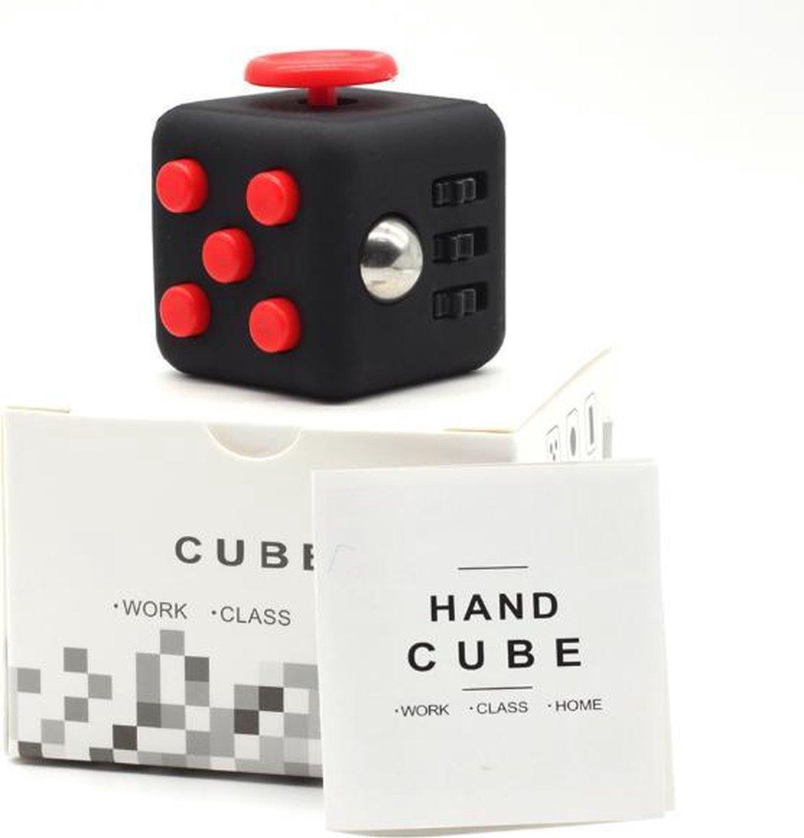 Fidget Cube - Friemelkubus Zwart/Rood - Merkloos