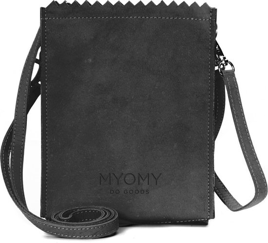 Myomy - My paper bag- Baggy - Crossbodytas - Hunter off black