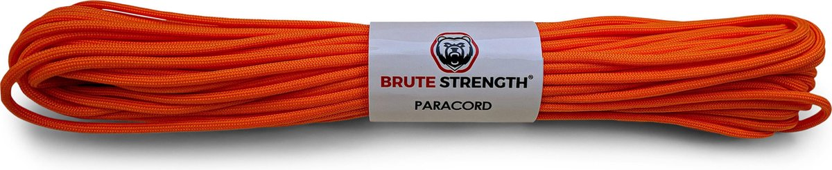 Paracord - Touw - 4 mm - 20 meter - Oranje - 250 kg trekkracht
