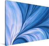 Abstract blauwe en fractal achtergrond Canvas 60x40 cm - Foto print op Canvas schilderij (Wanddecoratie woonkamer / slaapkamer)
