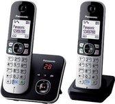 Panasonic KX-TG6822 - Duo DECT telefoon - Antwoordapparaat - Zwart/Zilver