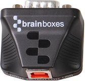 Brainboxes US-320 kabeladapter/verloopstukje RS-422/485 USB Zwart