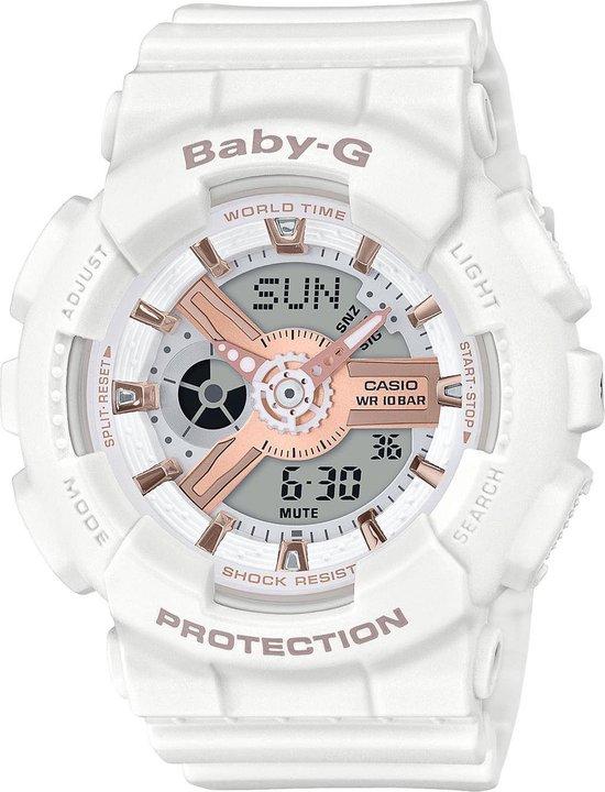 G-Shock Baby-G Horloge - G-Shock dames horloge - Wit - diameter 43.4 mm - Plastic / Resin