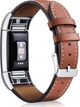 YONO Leer bandje - Fitbit Charge 2 - Bruin