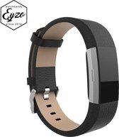 Merkloos Leer bandje - Fitbit Charge 2 - Zwart