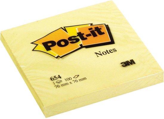 Afbeelding van Post-it® memoblok geel - 76 x 76 mm - 100 vellen