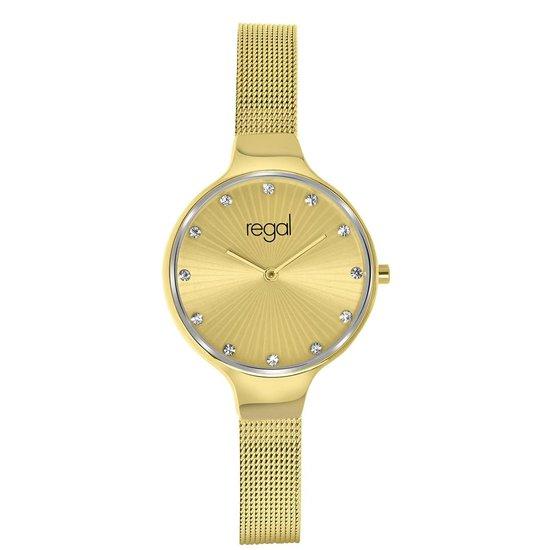 Regal horloge met goudkleurige band