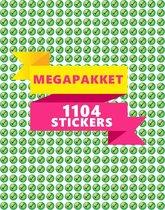 Groene Vinkjes Stickers   1104 STICKERS   TOPKWALITEIT   Kleine Vinkjes   Planner Stickers   Beloningsstickers   Checkmark   Goed Gedaan Stickers   10 mm   Markeerstickers