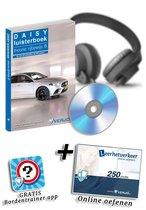 Het rijbewijspakket CBR-theorie-examen auto Verjo Daisy luisterboek met 250 credits en gratis Verjo Bordentrainer app.