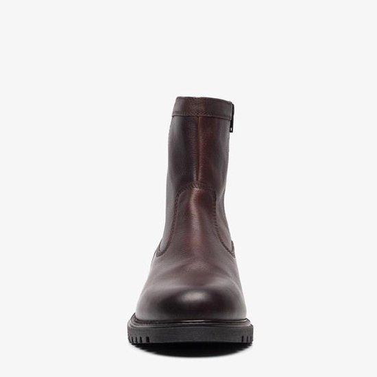 TwoDay gevoerde leren heren boots Bruin Maat 41