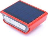 Rydon fietsverlichting voorlamp - SOLAR + USB ROOD