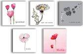 Condoleance kaarten - bloemen - condoleance - sterkte kaarten