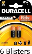 12 Stuks (6 Blisters a 2 st) Duracell Batterij N/Mn9100 1.5V