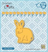 Nellie Snellen snijmal - 40 x 50 mm - SCCOD014 Cozy Dies konijn haas pasen rabbit