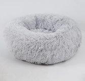 Studio Proud - Donut mand - honden en katten slaapbed - licht grijs - pluche hondenmand - verkrijgbaar in verschillende maten en kleuren