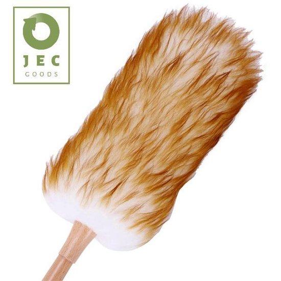 JEC Goods – Plumeau – Biologisch Schapenwol - Bamboe Handvat - 52 cm - Duurzaam - Reinigbaar