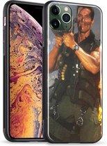 Apple iPhone 11 PRO - Case - Hoesje - Glazen Achterkant - Arnold  Schwarzenegger