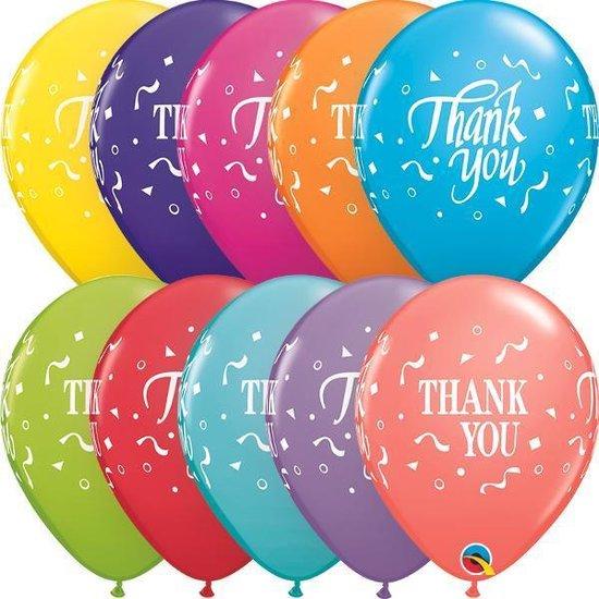 Ballonnen Thank You Assortiment (25 stuks)
