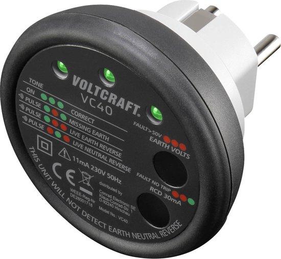 VOLTCRAFT VC40 Stopcontacttester CAT II 300 V