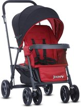 Joovy Caboose Graphite Stand On Tandem Kinderwagen - Rood - Duo Kinderwagen - Dubbele Kinderwagen