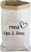 Paperbag - Hotel opa en oma - Vaderdag - Moederdag - Opbergen - Bewaar zak - Cadeau opa en oma - Speelgoed opbergen