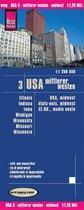 Reise Know-How Landkarte USA 03: Midden Westen