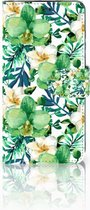 Huawei P30 Uniek Boekhoesje Orchidee Groen