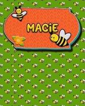 Handwriting Practice 120 Page Honey Bee Book Macie