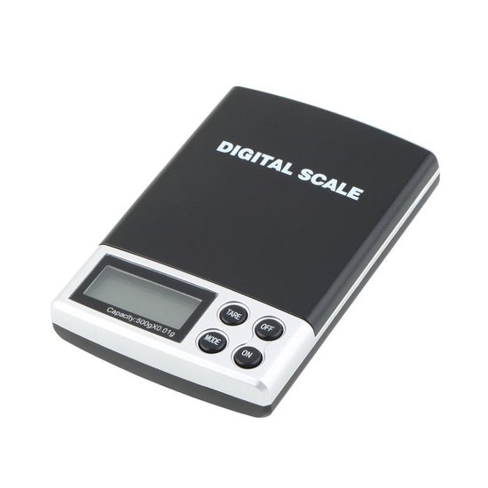 Mini Pocket Keukenweegschaal - Op Batterij - 0.1 Tot 500 Gram Nauwkeurig