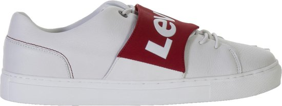 Levi Batwing Sneakers - Maat 44 - Mannen - wit/rood