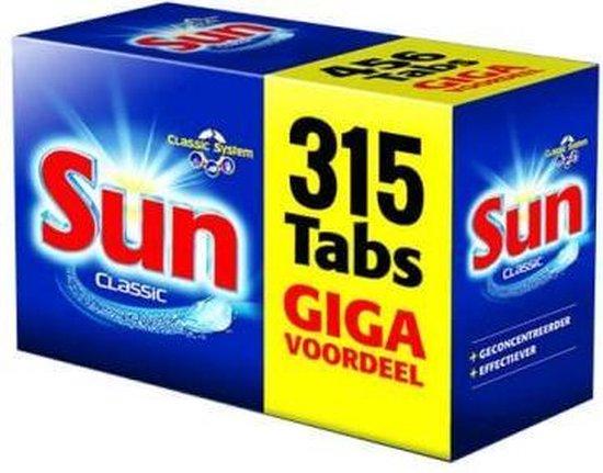 Sun Classic Vaatwastabletten - Voordeelverpakking - 315 Tabletten