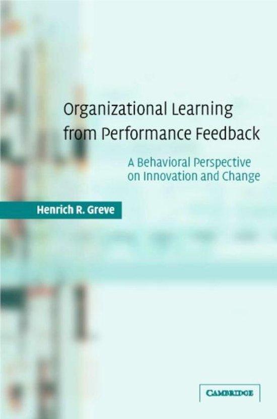 Organizational Learning from Performance Feedback