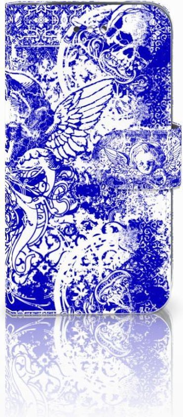 Flipcase Samsung S4 Angel Skull Blue