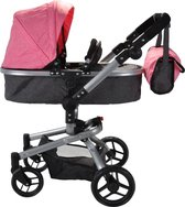 Bandits and Angels Classic Angel 2in1 roze poppenwagen
