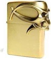 Zippo aansteker Gothic Skull Brass