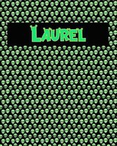 120 Page Handwriting Practice Book with Green Alien Cover Laurel