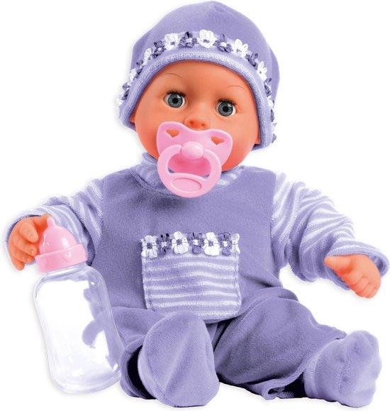 Bayer Mijn Eerste Woordjes Babypop - 38 cm - Paars