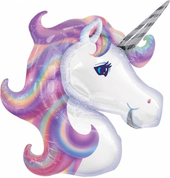 Anagram Unicorn folieballon XL - 83 x 73 cm (excl helium)