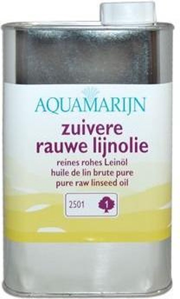 Zuivere Rauwe Lijnolie - Aquamaryn Verf