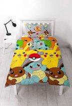 Pokemon Catch - Dekbedovertrek - Eenpersoons - 135 x 200 cm - Multi